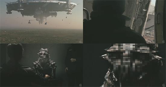 【3DCG】エイリアンの顔にモザイク 映画『DISTRICT 9』の予告編