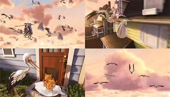 【3DCG】 PIXAR『UP』と同時上映される短編作品『Partly Cloudy』のチラ見ムービー