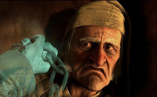 【3DCG】 ジム・キャリー主演 Disneyの3D映画 『Christmas Carol』
