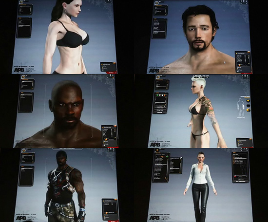 【3DCG】 ゲーム『APB』のキャラクター作成モードが半端無い