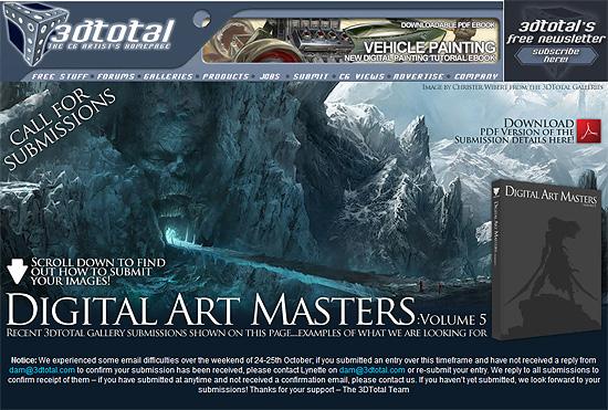 3DM3が『DIGITAL ART MASTERS』Volume5に向け作品募集中。