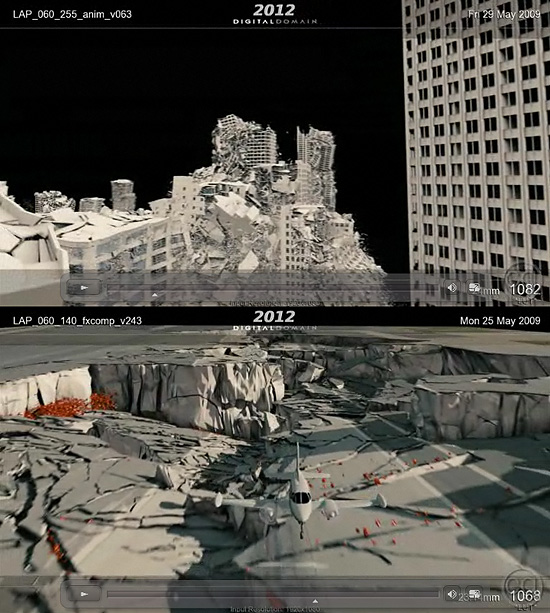 【3DCG】 映画『2012』のデジタルドメイン VFXメイキング映像