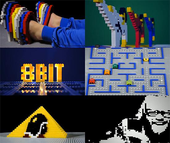 【その他】 レゴブロックで再現した8bitの世界 RymdreglageのPV 『8-bit trip』