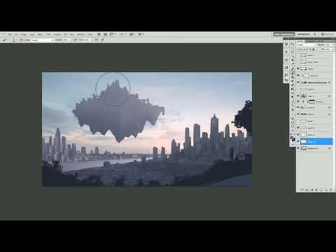 페느아트스쿨 : Concept Art - Laputa & City