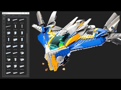 BrickIt - Lego Creation Script for Maya - Trailer