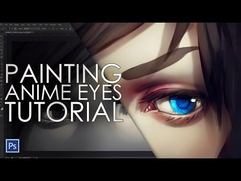 How to paint anime eyes - digital painting tutorial
