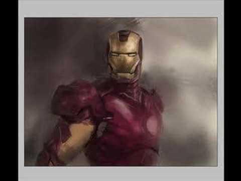 Iron man digital painting demo