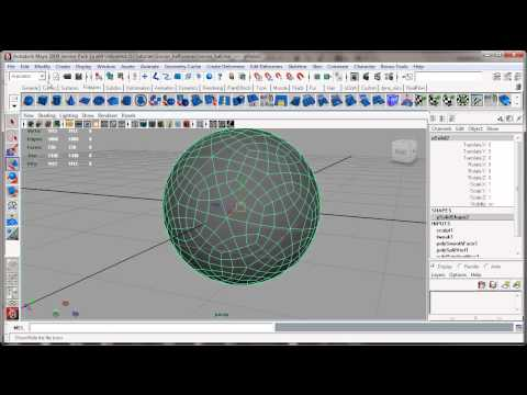 Modelling a soccer Ball in Maya