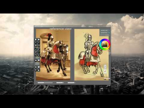 SpeedyPainter usage demo - reference view