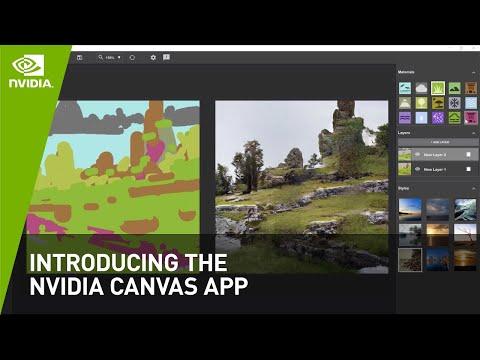 「NVIDIA Canvas」- AI が描く ペインティングアプリ - NVIDIA Studio