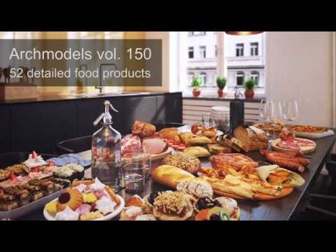 Archmodels vol. 150 - 3d-scanned and optimized food