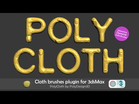 PolyCloth Plugin | Cloth brushes for 3dsMax