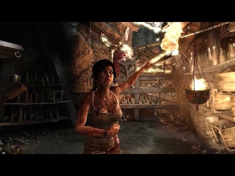 Tomb Raider - Scavenger Den Gameplay [PC with tressFX - OUTDATED (read description)]