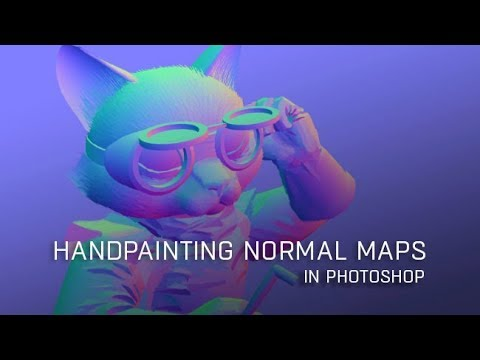Handpainting Normal Maps in Photoshop with Nick Lewis