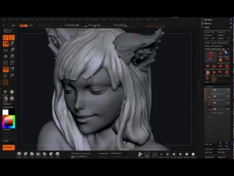 Spice and Wolf Horo sculpt timelapse