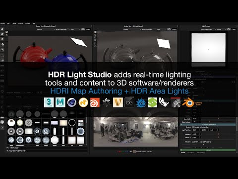 HDRI Map Authoring and HDR Area Lights