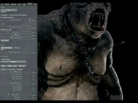 Cave Troll - Marmoset Toolbag Realtime Render