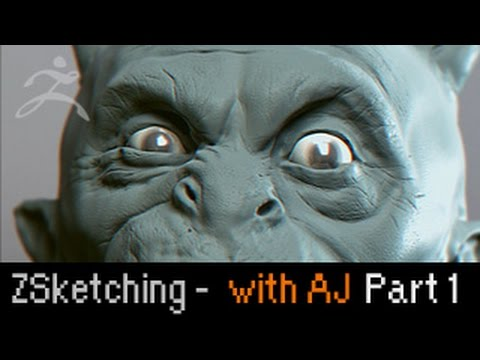 Zbrush Sketching: Crazy Demon with Anthony Jones (1 of 2)