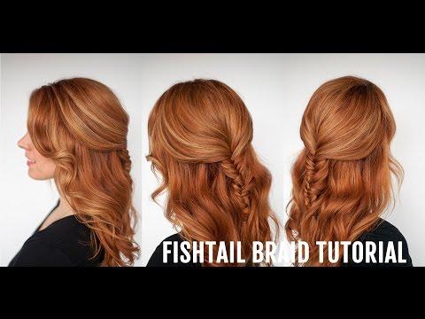 Half Up Hairstyle - Fishtail Braid Tutorial