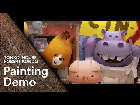 Photoshop: Robert Kondo's Painting Demo - Tonko School (#006)