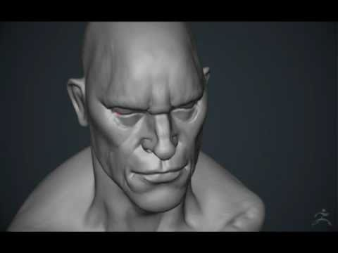ZBrush 4 – Timelapse: 60 minutes with a cube.