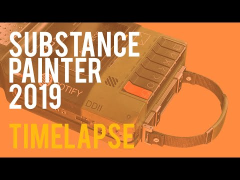 Potify Texturing Timelapse Substance Painter 2019