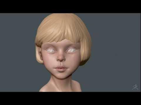Zbrush Polypaint - Blonde Kid Girl 02