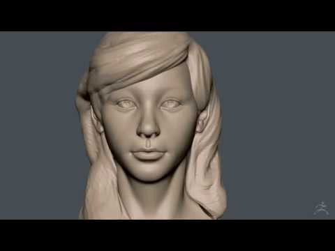 Zbrush Sculpting - Girl with Wavy Hair - 01 Head