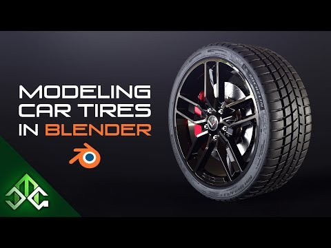 Blender Tutorial - Modeling Car Tires