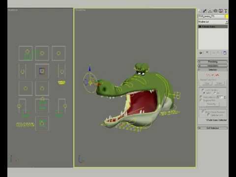3ds max crocodile's face rig