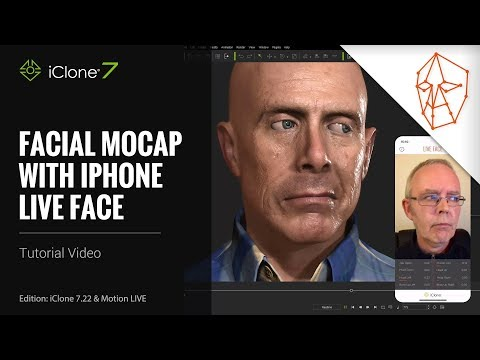 iClone 7.22 Tutorial - Motion LIVE: Facial Mocap with iPhone LIVE FACE