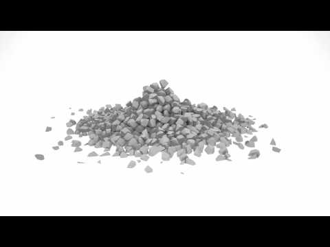 Realflow voronoi fractured cube