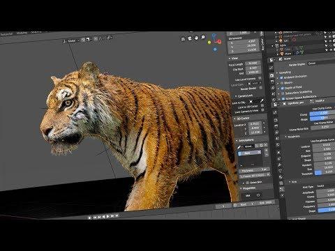 Tiger - Blender 2.80 demo by Daniel Bystedt