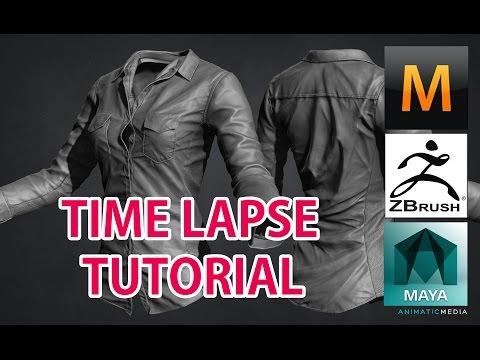 3D Modeling female Shirt time lapse (Zbrush + Marvelous Designer)