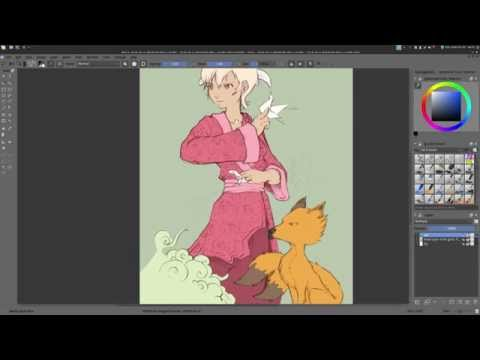 Krita 2.9 tutorial -part1/2- Gmic colorize[interactive]
