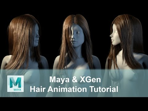 CGLYO - Realistic Female Hair Animation Tutorial with Maya XGen