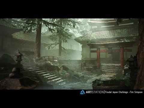 ArtStation Feudal Japan - Unreal Engine 4 Environment + Free Tutorial (UE4)