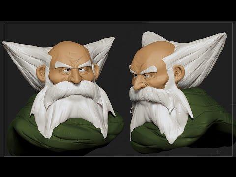 Zbrush Face Making Sculpt 「Oyaji」 Series #5