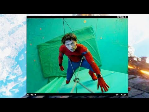 スパイダーマンはじめアベンジャーズたちにVFXが施されていくメイキング映像/映画『アベンジャーズ/インフィニティ・ウォー』