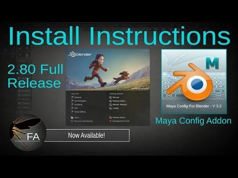 Blender 2.80 Full Release - Maya Config Installation
