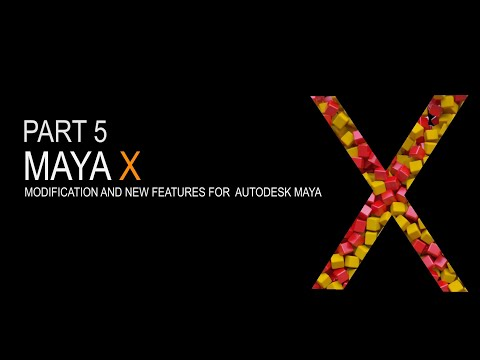 Maya X - Part5 New scatter and instance Tools