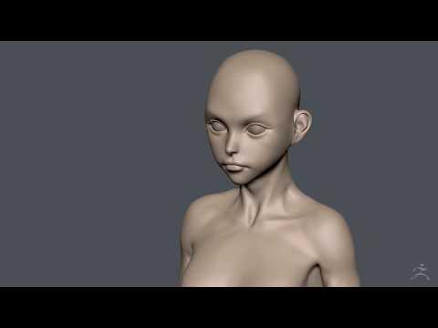 Zbrush Sculpting - SuperGirl WIP02 [ Hair + Body ]