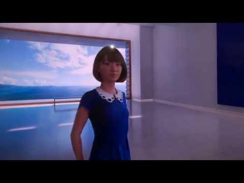 CEATEC JAPAN 2016 シャープブース CG美少女「Saya」動画デモ