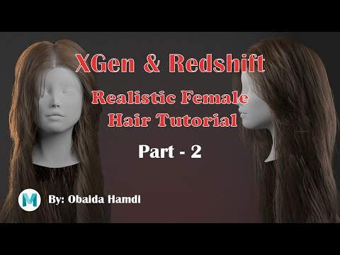 CGLYO - Realistic Female Hair Tutorial with XGen & Redshift -Part02