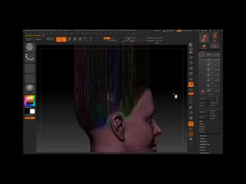 Videotutorial Zbrush, how to make curly hair?