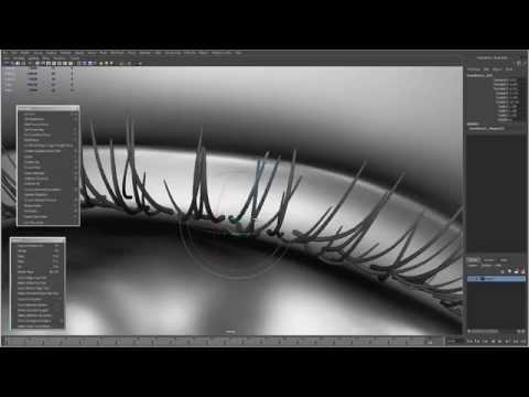 Modeling Eyelashes in Autodesk Maya - Rajbir Dhalla