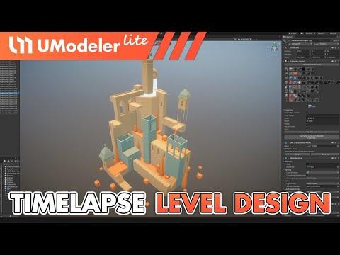 UModeler Lite : Timelapse Video of Level Design in Unity