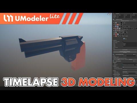 UModeler Lite : Timelapse Video of 3D Modeling in Unity