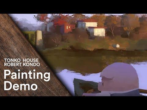 Photoshop: Robert Kondo's Painting Demo - Tonko School (#005)