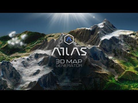 3D Map Generator - Atlas - Photoshop Plugin